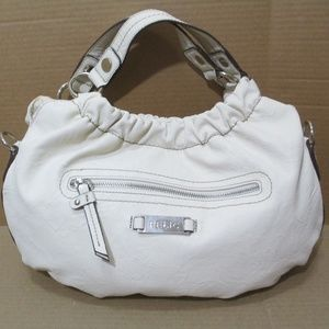 NEW RELIC by Fossil White Fx Leather Crossbody Bag